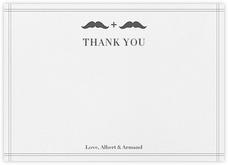 Mr. and Mr. Stache (Wedding Stationery) - Gray