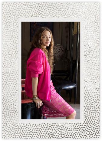 Konfetti (Tall Photo Invitation) - Silver - Kelly Wearstler -