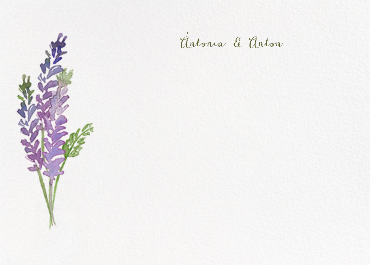 Mountain Flora (Stationery) - Lilac - Paperless Post - Wedding thank you notes