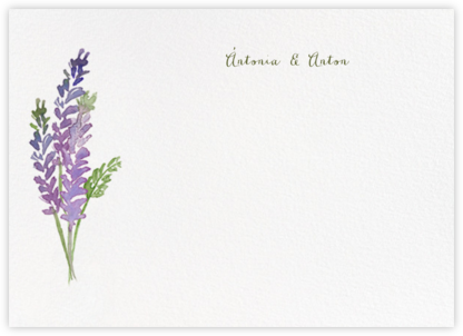 Mountain Flora (Stationery) - Lilac - Paperless Post - Wedding thank you cards