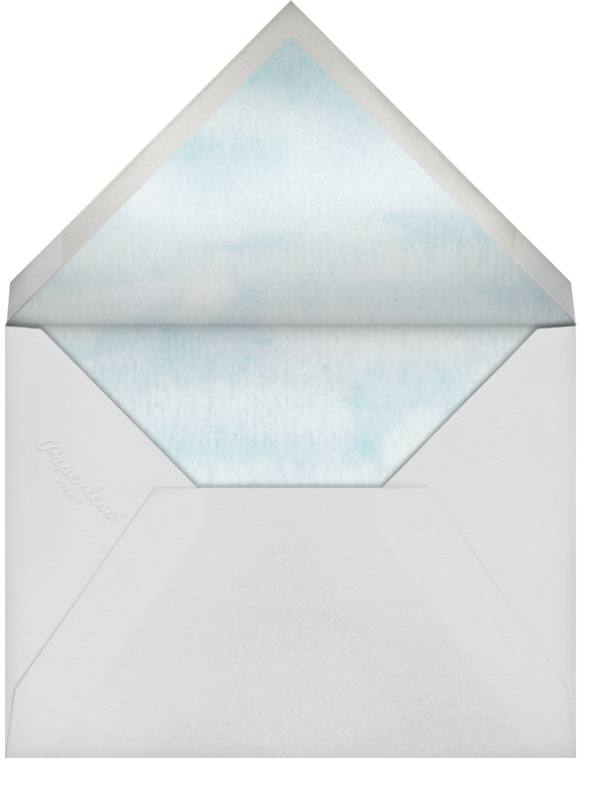 Mountain Flora (Stationery) - Lilac - Paperless Post - Wedding - envelope back