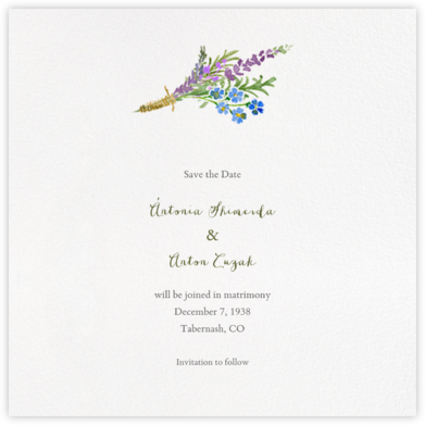 Mountain Flora (Save the Date) - Paperless Post -