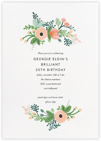 Wrapped in Wildflowers (Invitation) - Rifle Paper Co. - Adult birthday invitations