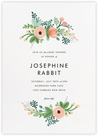 Wrapped in Wildflowers (Invitation) - Rifle Paper Co. - Online Baby Shower Invitations