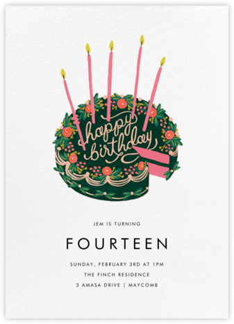 First Slice - White - Rifle Paper Co. - Online Kids' Birthday Invitations