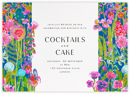 Hampton - Liberty - Adult birthday invitations