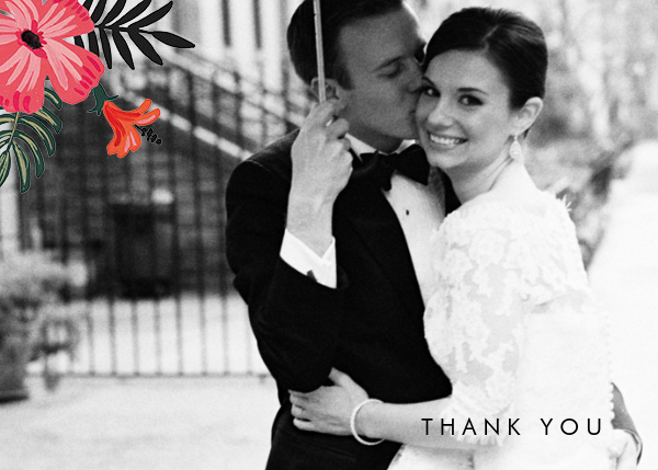 Kona Floral (Photo Stationery) - Rifle Paper Co. - Wedding thank you notes