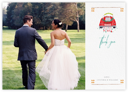Mr. Juniper (Photo Stationery) - Mr. Boddington's Studio - Wedding thank you cards