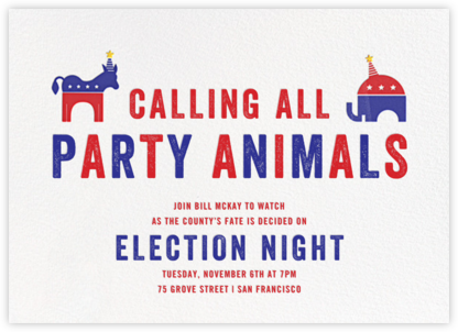 Political Animals - Paperless Post - Election Night invitations