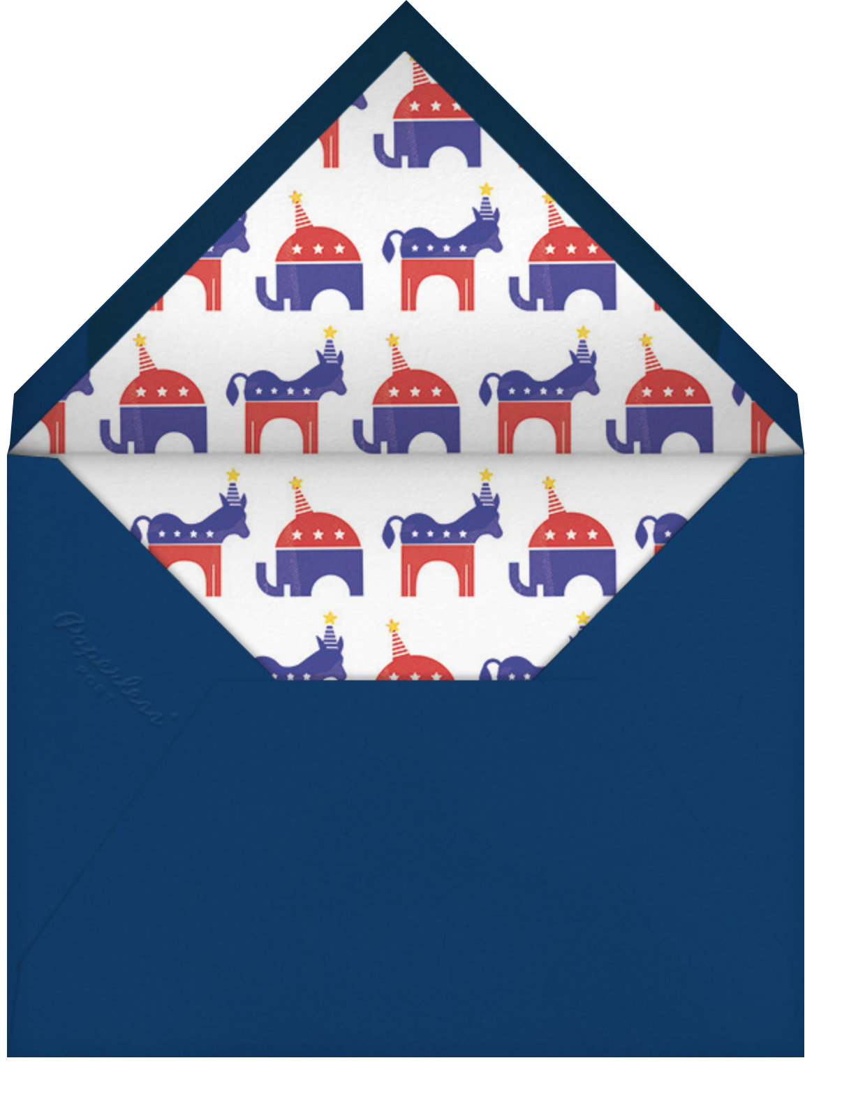 Political Animals - Paperless Post - Election night - envelope back