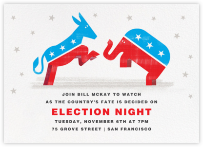 Rearing for a Party - Paperless Post - Election Night invitations