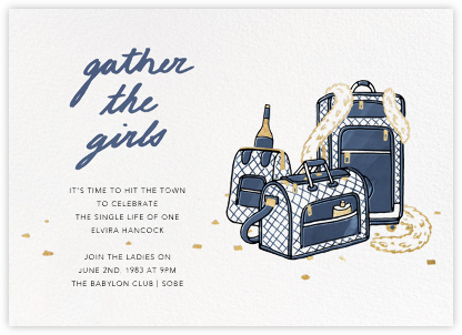 Gather the Girls - Navy - Paperless Post - Bachelorette Party Invitations