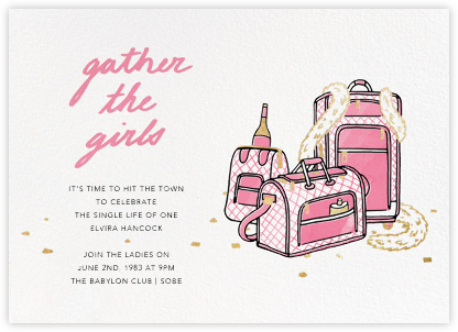 Gather the Girls - Pink - Paperless Post - Bachelorette party invitations