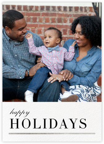 Underscore - Silver - Paperless Post - Holiday Photo Cards