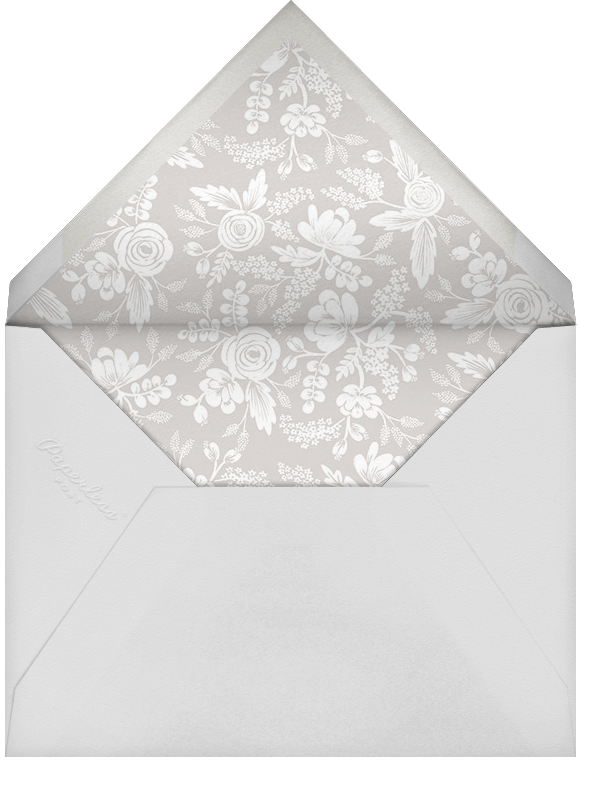 Heather and Lace (Square Photo) - Silver - Rifle Paper Co. - Holiday cards - envelope back