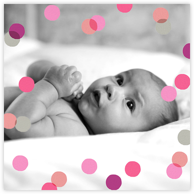 Carnaby (Photo) - Pink - Paperless Post - Birth Announcements