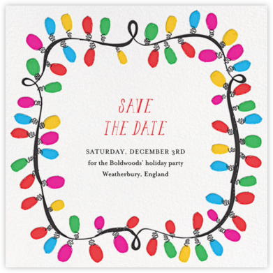 This Line is Tangled - Mr. Boddington's Studio - Holiday Save the Dates
