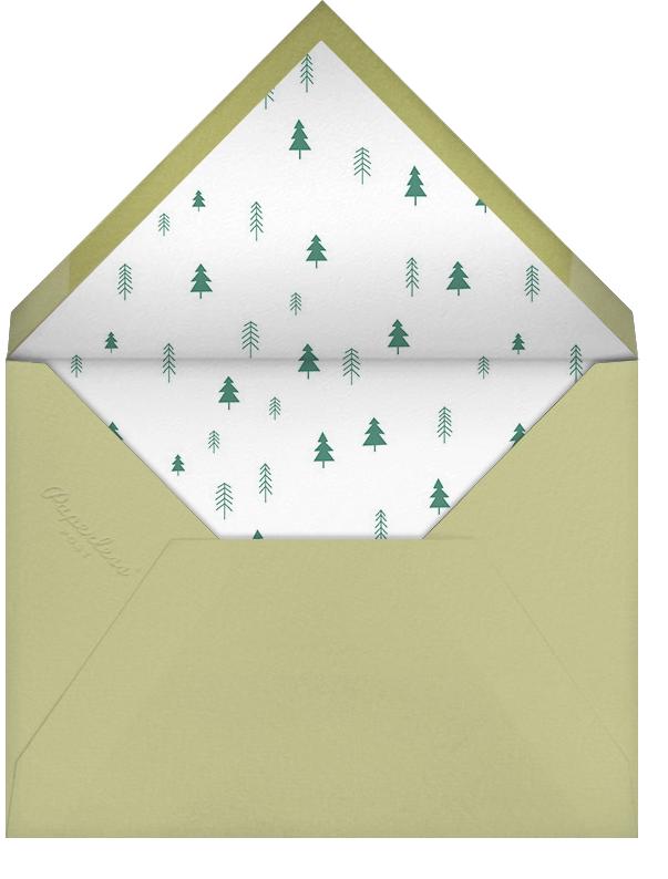 Bear's Necessities - Blue - Little Cube - Kids' birthday - envelope back