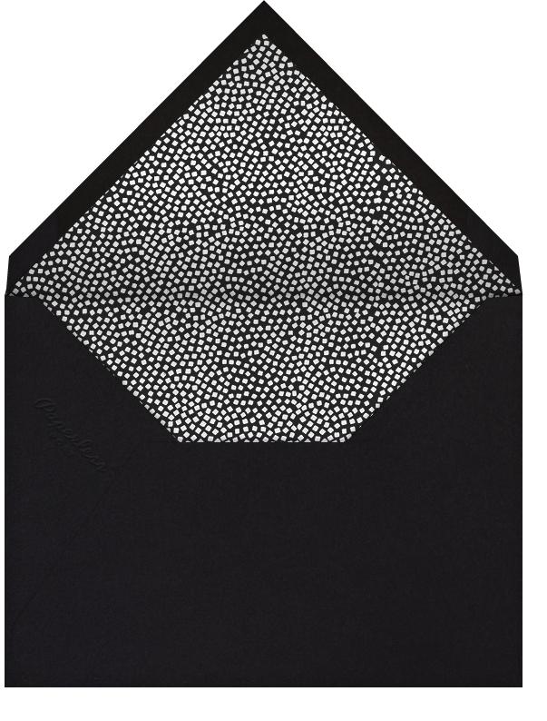 Konfetti (Tall Photo) - Silver - Kelly Wearstler - Holiday cards - envelope back