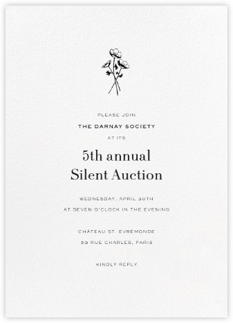 Blanc (Tall) - Paperless Post - Charity and fundraiser invitations