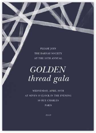 Channels (Invitation) - Navy - Kelly Wearstler - Kelly Wearstler