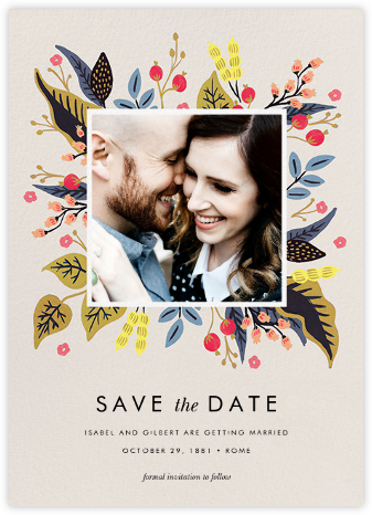 Egret Garden (Photo Save the Date) - Rifle Paper Co. - Save the dates