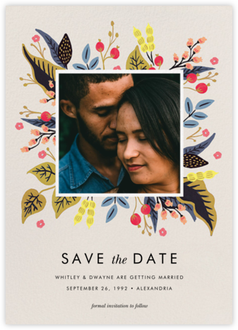 Egret Garden (Photo Save the Date) - Rifle Paper Co. - Rifle Paper Co. Wedding