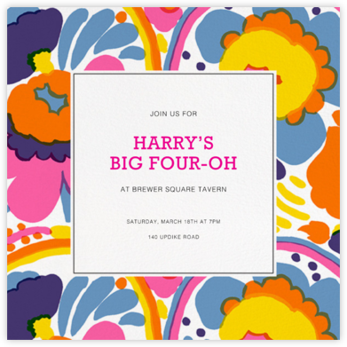 Pieni - White - Marimekko - Adult Birthday Invitations