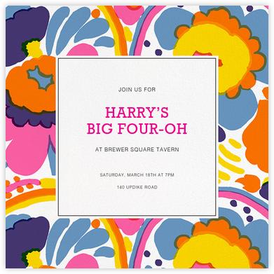 Pieni - White - Marimekko - Adult birthday invitations