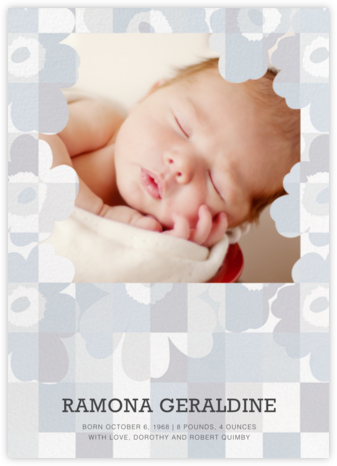 Ruutu-Unikko (Photo) - Winter Gray - Marimekko - Birth Announcements