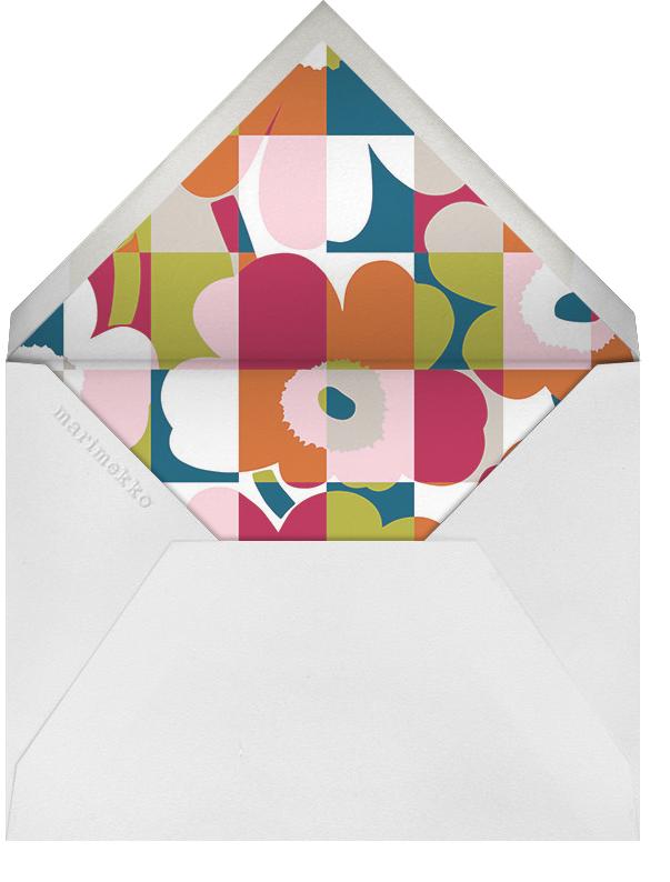 Ruutu-Unikko (Stationery) - Multi - Marimekko - Personalized stationery - envelope back