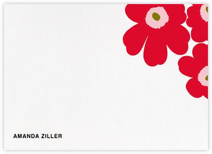 Unikko (Stationery) - Red/Green - Marimekko - Personalized Stationery