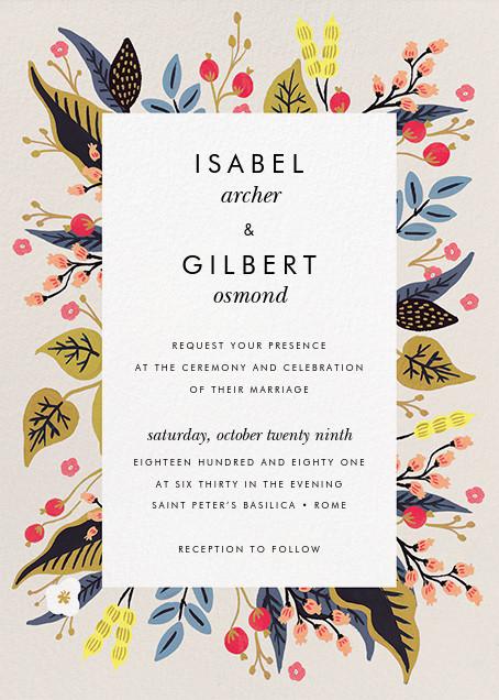 Egret Garden (Invitation) - Rifle Paper Co. - Rifle Paper Co. Wedding