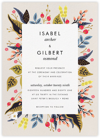 Egret Garden (Invitation) - Rifle Paper Co. - Rifle Paper Co. Wedding