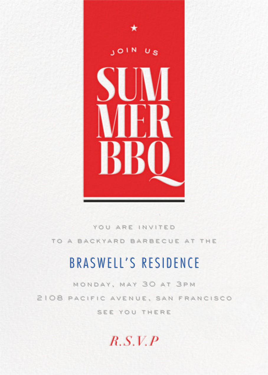 Summer BBQ - bluepoolroad -