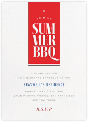 Summer BBQ - bluepoolroad - Invitations
