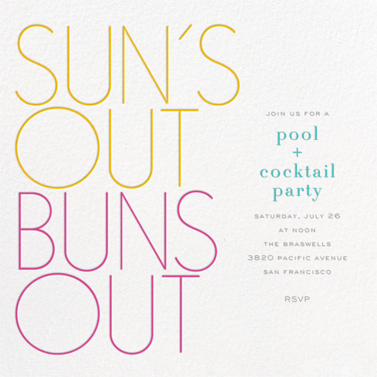 Sun's Out Buns Out - bluepoolroad -