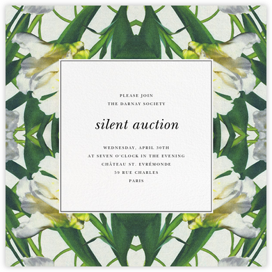 Parrot Tulip - Oscar de la Renta - Charity and fundraiser invitations
