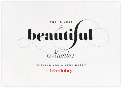 A Beautiful Number - bluepoolroad - bluepoolroad cards