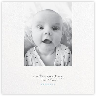 Baby Flourish - Blue - bluepoolroad - Birth announcements