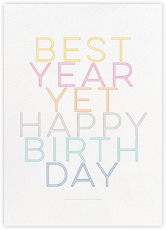 Best Year Yet - bluepoolroad - bluepoolroad invitations and cards