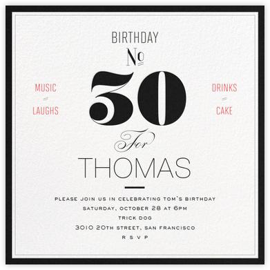 Birthday Number (Thirty) - bluepoolroad -