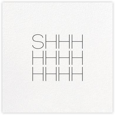 Shhh Square - bluepoolroad - bluepoolroad invitations and cards