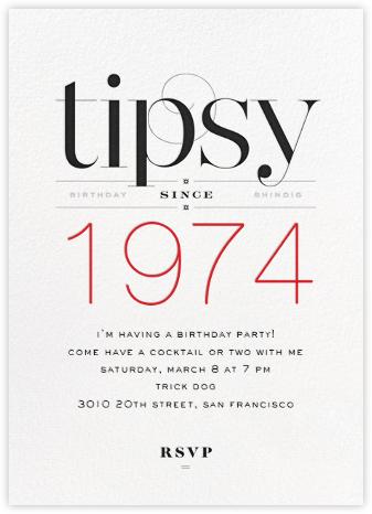 Tipsy Since... - bluepoolroad - bluepoolroad invitations