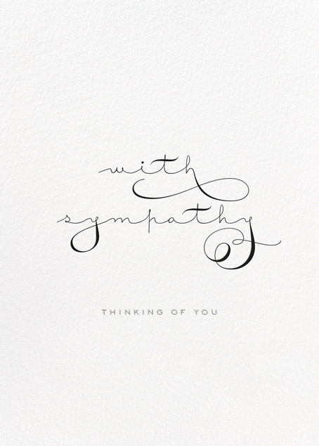 With Sympathy - bluepoolroad - Online greeting cards