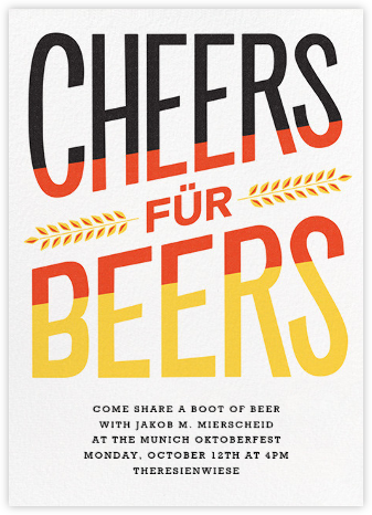 Cheers für Beers - Paperless Post - Oktoberfest invitations