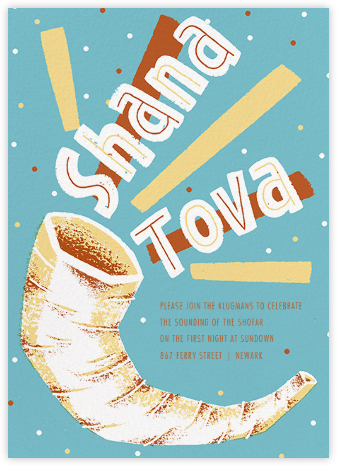 Shofar Shout - Paperless Post - Rosh Hashana Invitations