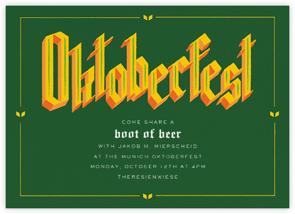 Gothtoberfest - Paperless Post - Oktoberfest invitations