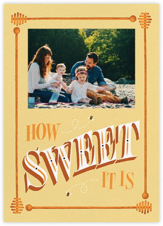How Sweet It Is (Photo Greeting) - Paperless Post - Rosh Hashanah Cards