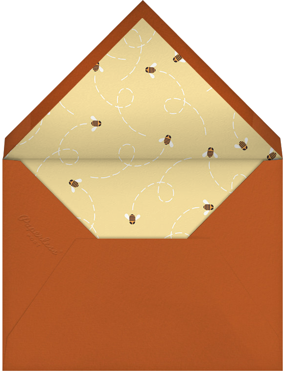 How Sweet It Is (Greeting) - Paperless Post - Rosh Hashanah - envelope back